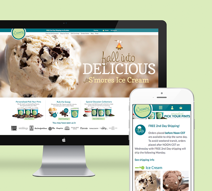 eCreamery Featured Magento Project Card