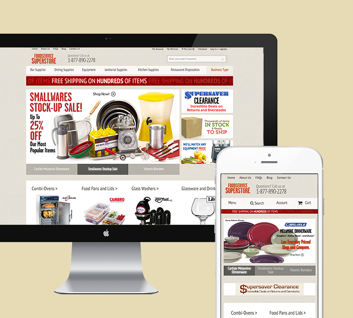 FoodService SuperStore Featured Magento Project Card