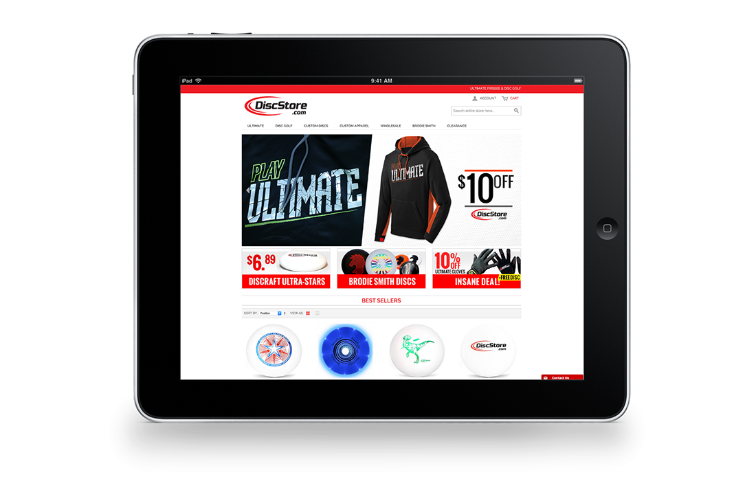 Disc Store Magento Responsive Tablet Design