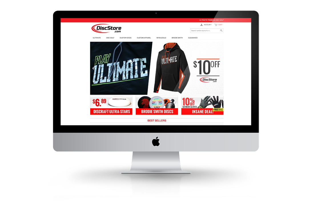 Disc Store Responsive Big Screen Design