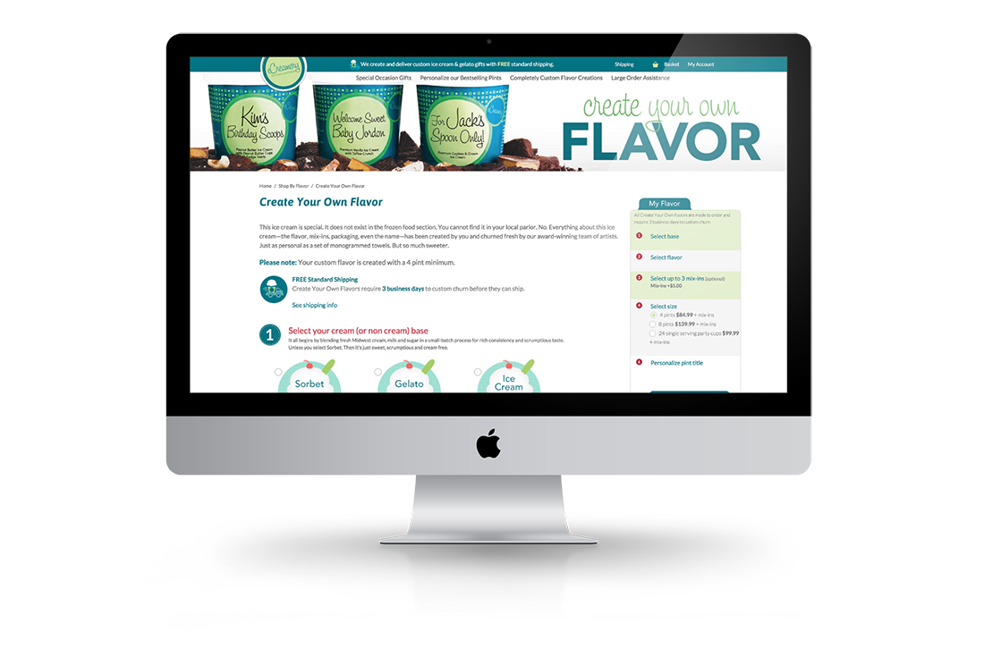eCreamery Magento Create Your Flavor Widget