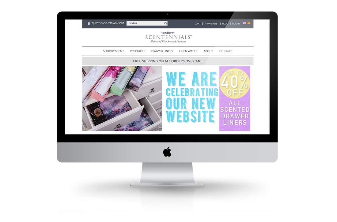 Scentennials Homepage Big Screen Magento Responsive Design