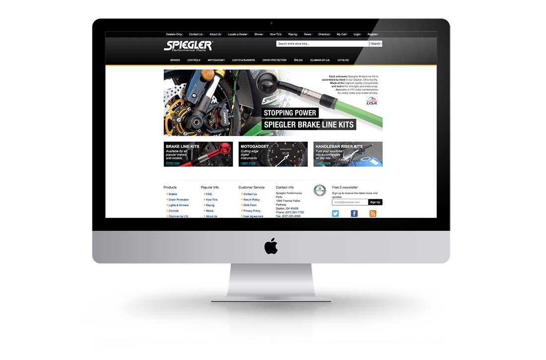 Spiegler USA Magento Big Screen Design